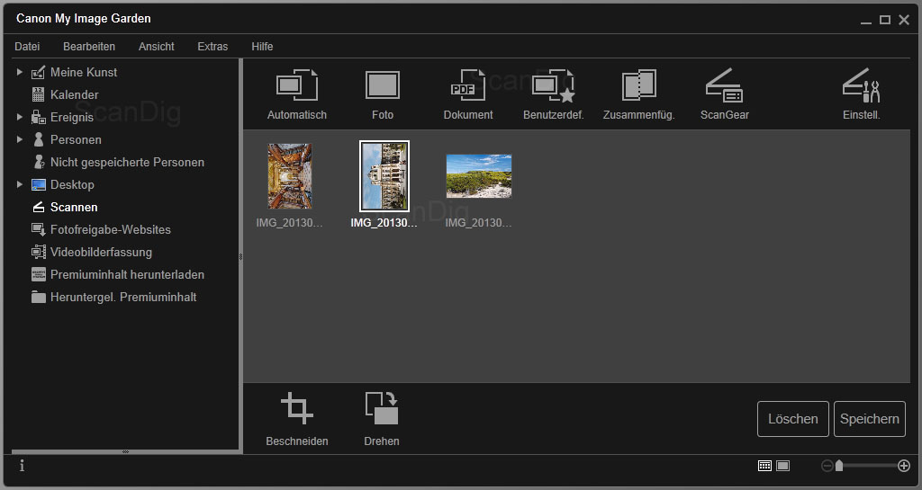 negative von pocketkamera digitalisieren