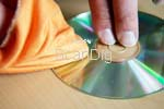 Cleaning a blank CD from dust and fingerprints