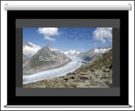 Scan landscape format on a 4:3-screen