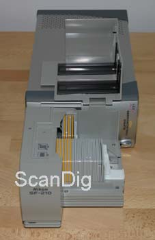 The Nikon LS-5000 with opened slide feeder