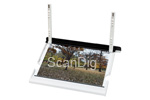 The image holder can take images sized up to 10x15 cm