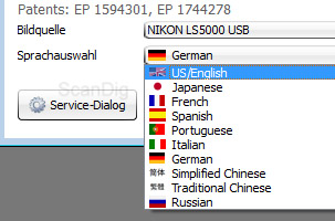 Available languages for SilverFast 8